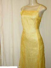 Flame Designer Spaghetti Strap Sequin Yellow Cocktail Dress Size 10