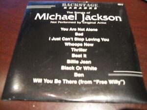 BACKSTAGE KARAOKE 9817 MICHAEL JACKSON CD+G SEALED on sale