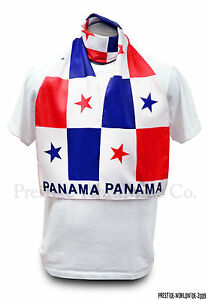 Panama Flag Print Scarf *NEW* One-Size-Fits-All Bandera Panamanian FREE SHIPPING