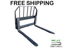 48 Es Pallet Fork Attachment Skid Steer Quick Attach Mount Free Shipping