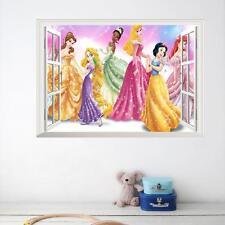 Disney princess window Removable Wall decor kids Sticker nursery wall art