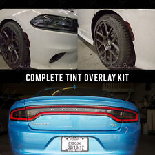 2015-2017 Dodge Charger Hellcat R/T Smoked Taillight AND 4 Side Markers Tint KIT