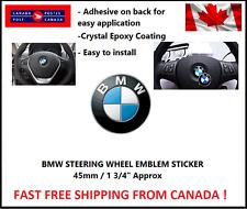 "BMW STEERING WHEEL EMBLEM 45mm -1 3/4 "" BADGE STICKER Self Adhesive"