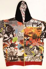 PJ Mark Reversible Hoodie Zipper Front - Heavy - Urban Print - Size 2XL