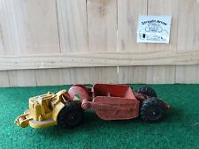 Vintage Auburn Rubber Pan Scraper Earth Mover Construction Heavy Equipment Toy