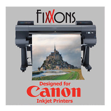 "Ultra Premium 100% Cotton Inkjet Canvas Satin For Canon 24"" x 40' Roll"