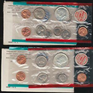 1968 and 1969 Mint Sets, OGP