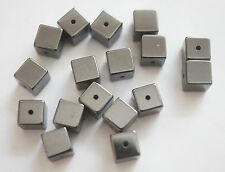25 Cube Shape Hematite Beads - Non Magnetic - 6mm