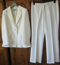 2 Piece Trouser Suit by Marks&Spencer, Size14, Colour Cream