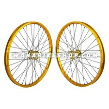 "24x1.75"" SE Racing Sealed Bearing Wheelset BMX GOLD"