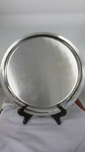 Vintage Cartier Pewter Serving Tray Plate