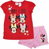 NEW DISNEY MINNIE MOUSE GIRLS PYJAMAS PJ SET SIZE 2,3,4,5,6,7