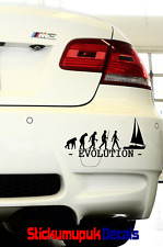 Evolution of Sailing Car / Window or Laptop Sticker Quality Decal 15 colours