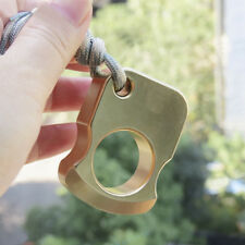 EDC Outdoor Multi-Function Tool KeyChain Self-defense Knuckle Ring Solid Brass