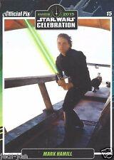 Mark Hamill Official Pix Star Wars Autograph Trading Card Celebration Anaheim