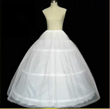 White 3 HOOP 1 layer Wedding Dress Bridal Petticoat Underskirt Crinoline Slip