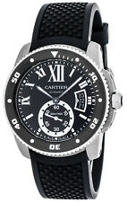 Cartier Calibre 42mm Automatic Rotating Bezel Black Rubber Men's Watch W7100056
