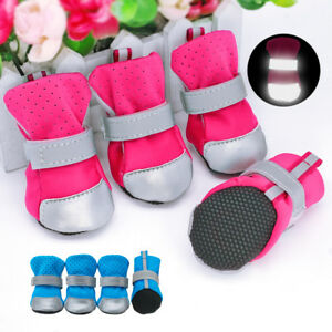 Cozy Padded Dog Shoes Reflective Non-slip Rubber Waterproof Dog Socks Boots