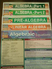 Barcharts Lot of 5 Different Algebra Quick Study Guides
