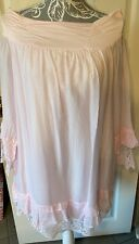 Made In Italy LAGENLOOK  Pastel Pink Cotton & Silk Tunic Top  Size 16
