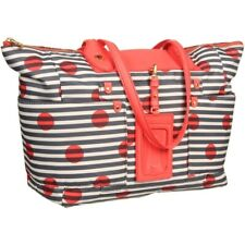 $298! NEW MARC JACOBS PREPPY PRINTED POLKA DOT NYLON TOTE HANDBAG PURSE BEACH !!