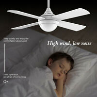 48'' Ceiling Fan with Light Remote Control Noiseless Reversible DC Motor Indoor