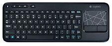 """Logitech Wireless K400R 79 Key Slim Keyboard W/3.5"""" Touchpad And Nano Brand New"""