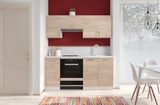 Cucina componibile da 180 cm con top bianco base e pensili sospesi in laminato