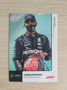 TOPPS NOW EXCLUSIVE F1 FORMULA 1 LEWIS HAMILTON 91st Victory TRADING CARD