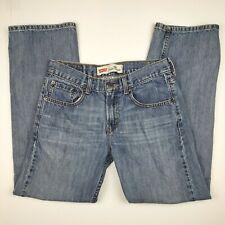 Levis Mens Red Tab 569 Loose Straight Blue Jeans 18 Reg 29x29 Medium Wash Denim