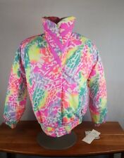 NWT VTG Ladies Roffe Ski Jacket Neon Color Splash 90s Dead Stock Size 16