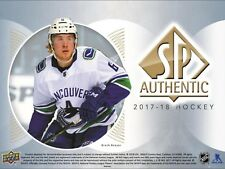2017-18 UPPER DECK SP AUTHENTIC HOCKEY COMPLETE 100-CARD BASE SET