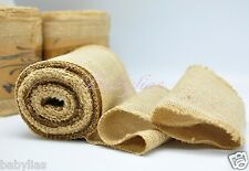 "6"" Wide Natural Burlap Fabric Jute Rustic Wedding Vintage Roll 10 Yard Length"