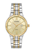 Citizen Men's Quartz Champagne Dial Gold-Tone Bracelet 36mm Watch BI5024-54P