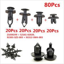 80Pcs Car Body/Bumper Push Retainer Pin Rivet Trim Clip Panel Moulding Fasteners