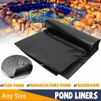 HDPE Fish Pool Pond Liner Membrane Reinforced Gardens Pools Landscaping Black