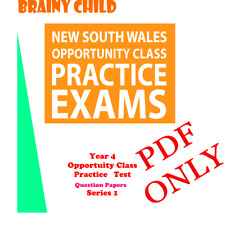 Brainy Child - Year 4 Opportunity Class (OC) Practice Test Question  :  Series 1