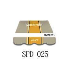 4X3m Markisenstoff Markisentuch ohne Volant mit UV-Schutz fertig genäht SPD025
