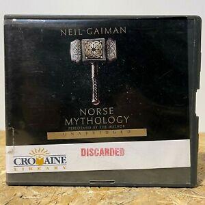 Norse Mythology by Neil Gaiman Ex Library 6 CD Unabridged Audiobook Free Ship