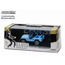 Greenlight 1963 Jeep CJ5 Hollywood Elvis Presley Diecast Car Blue 1:43 86310