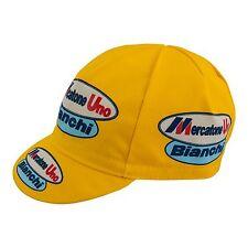 Mercatone Uno Bianchi Cycling Team Cap Made in Italy Pantani Barbero Yellow