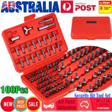 New 100pcs Chrome Security Bit Tool Set Torx Hex Drill Star Spanner Screw Driver