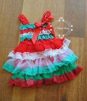 Christmas Xmas Flower Girl Lace Chiffon Dress Princess Baby Party Wedding Gift