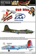 Kits World Decals 1/72 BOEING B-17 FLYING FORTRESS Aluminum Overcast & Old Bill