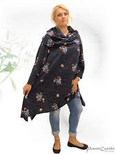 PoCo DeSiGn LAGENLOOK Pullover Pulli Carmen Rolli Strick Shirt L-XL-XXL-XXXL