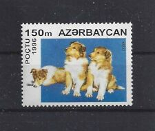 Art Dog Head Body Portrait Postage Stamp Rough Coated Collie Azerbaijan 1996 Mnh