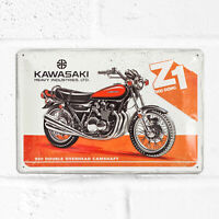 Kawasaki Z1 900 Retro Metal Vintage Motorbike Sign 30cm Tin Wall Art Plaque Gift