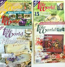5 Tole World Magazine Tole Decorative Painting Projects with Patterns