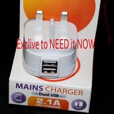 5v 3a USB Caricatore Rapido Doppio 2 Port UK Spina adattatore per Samsung-iPhone-LG