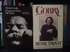 Maxim Gorki Fragments From My Diary and Gorky A Biography 2 HC Books